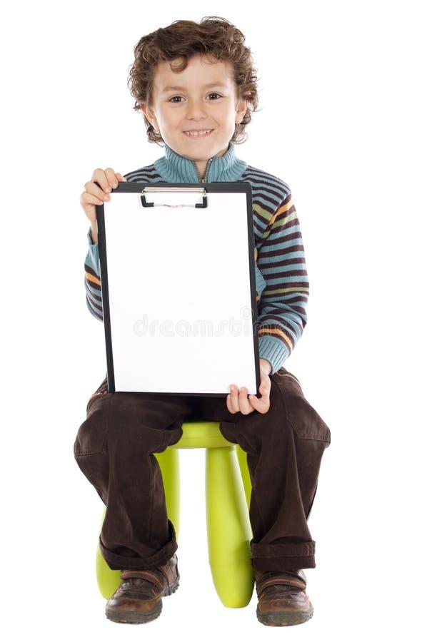 piszę chłopca obrazy royalty free