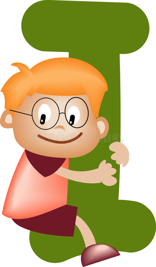 piszę list alfabetu chłopcze ilustracja wektor