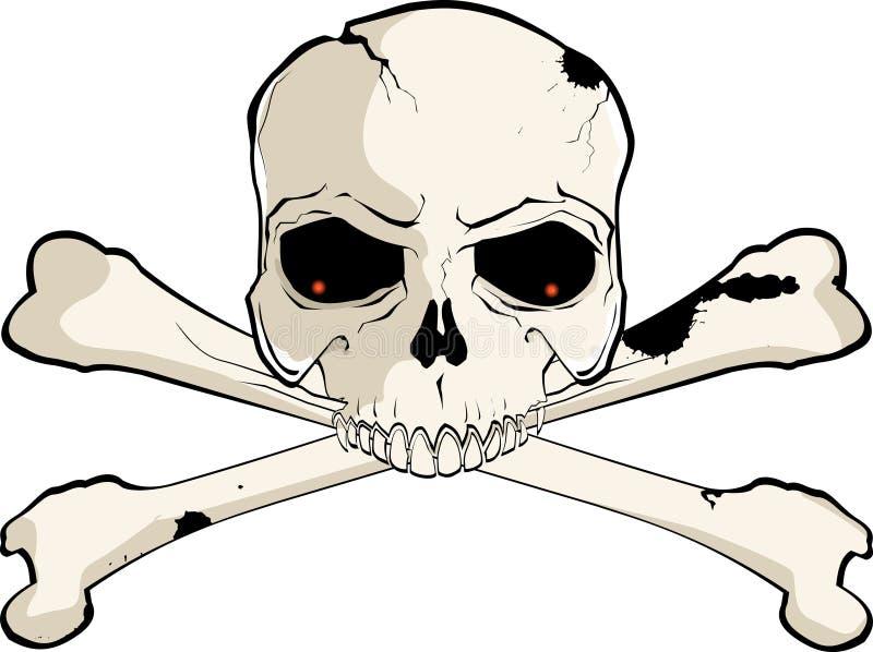 piszczele czaszki ilustracji