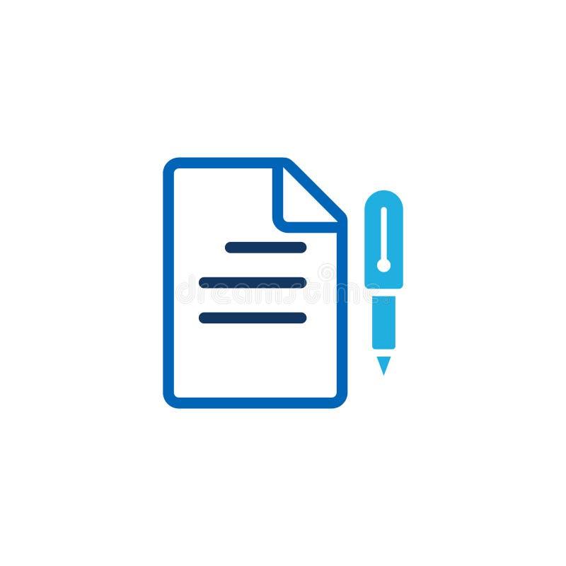 Pisze dokumentu loga ikony projekcie ilustracja wektor