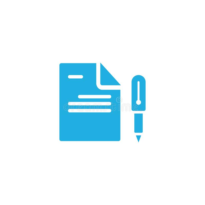 Pisze dokumentu loga ikony projekcie ilustracji