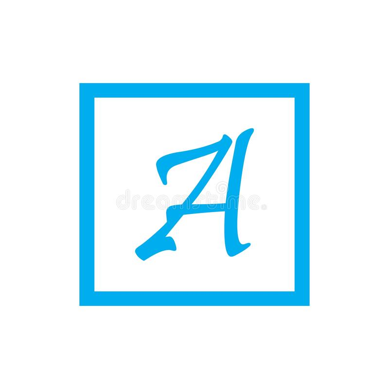 Pisze list logo szablonu ikony wektorowego projekt royalty ilustracja