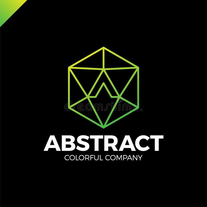 Pisze list A techniki przemysłu loga szablon Abstrakcjonistyczny medialny trójbok on ilustracja wektor