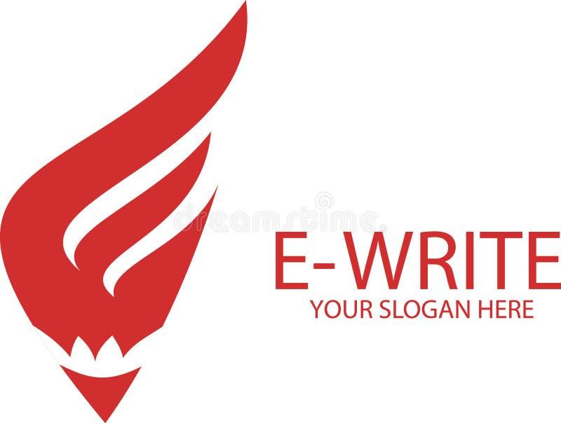 Download Pisze logu - E list ilustracji. Ilustracja złożonej z prosty - 53785586