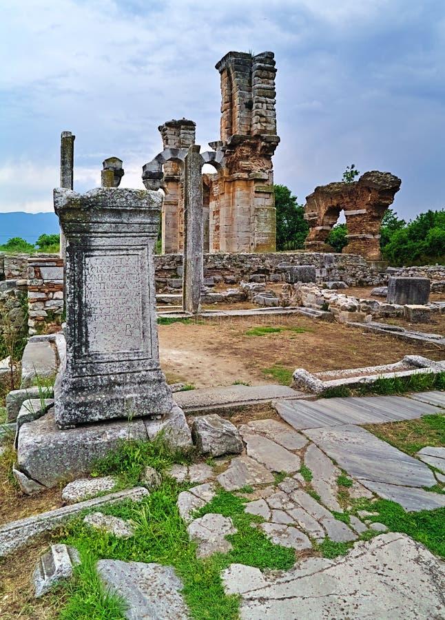 Pisze scenariusz na kolumny i bazyliki II chrześcijanina świątyni fotografia royalty free