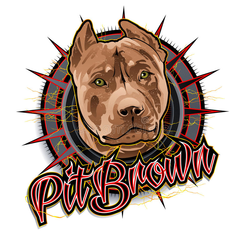 Pit brown dog art royalty free illustration