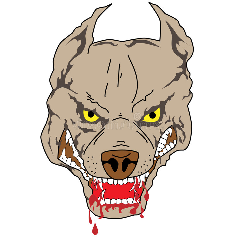 Download Pit bull stock vector. Image of image, deadly, bloody - 3328154