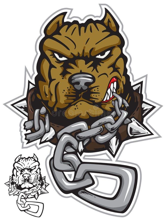 Pit-bull angrydog royalty free illustration