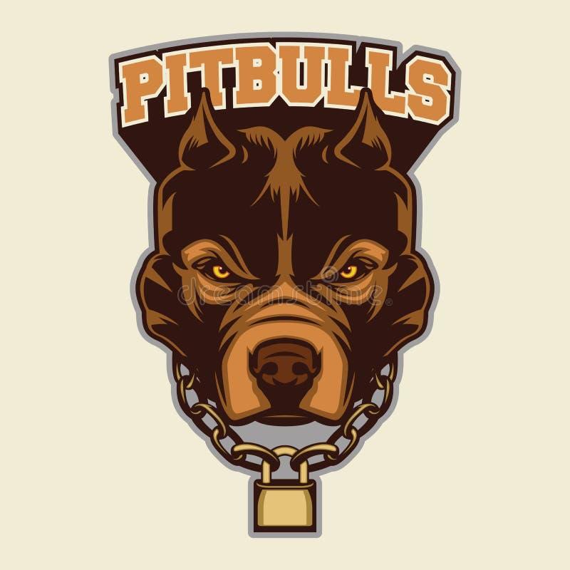Pit Bull Kierownicza maskotka ilustracji