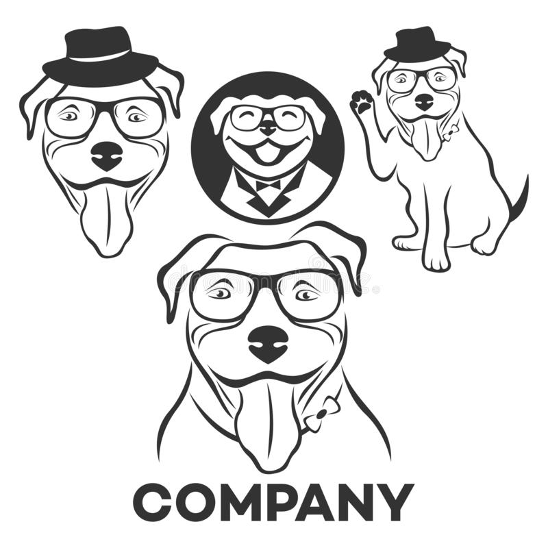 Pit bull logo. Vector illustration. Pit bull logo. This is a file format that can be scaled to any size stock illustration
