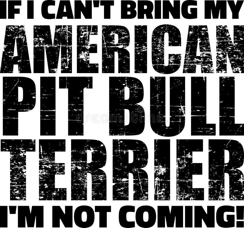 Pit Bull slogan royaltyfri illustrationer