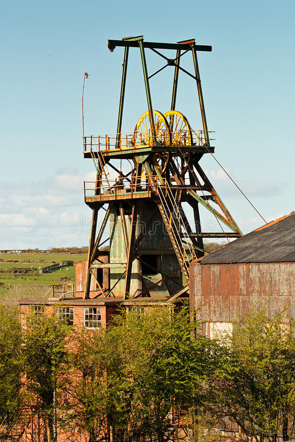 Pit Head. Winding gear iconic colliery or mine workings royalty free stock image