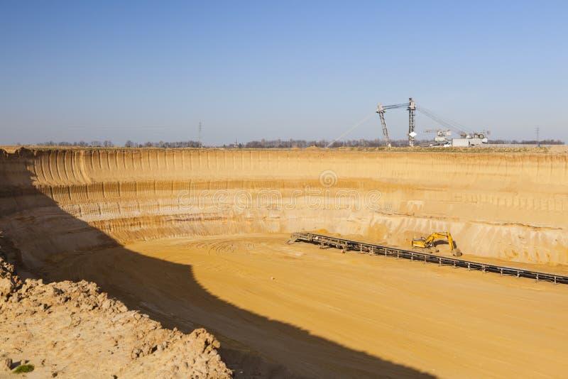 Pit Mine Wall lizenzfreie stockfotos