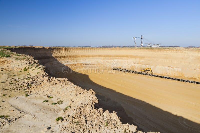 Pit Mine Wall lizenzfreies stockbild