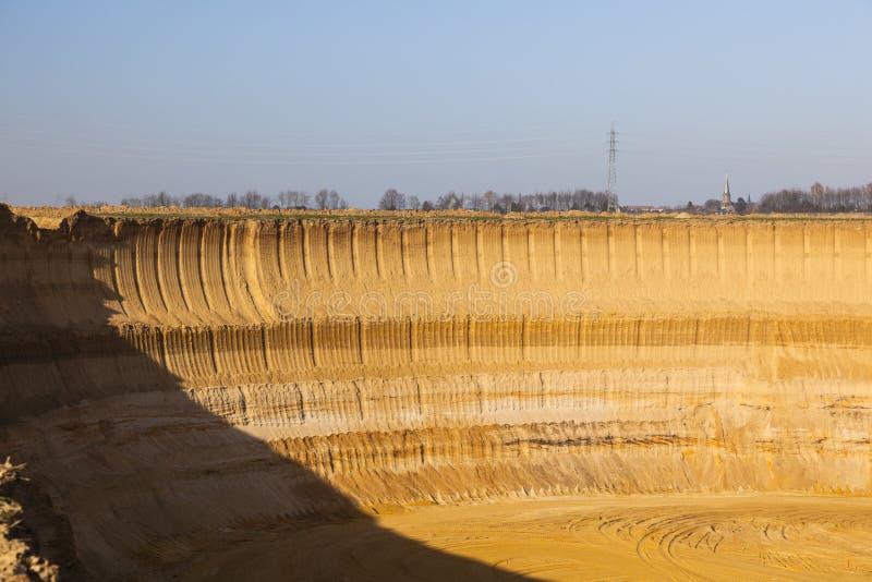 Pit Mine Wall stockfotos
