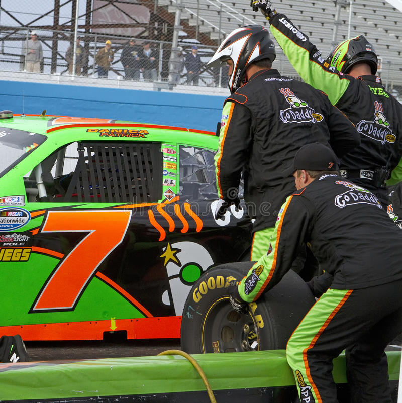 Pit stop NASCAR female driver Danica Patrick royalty free stock images