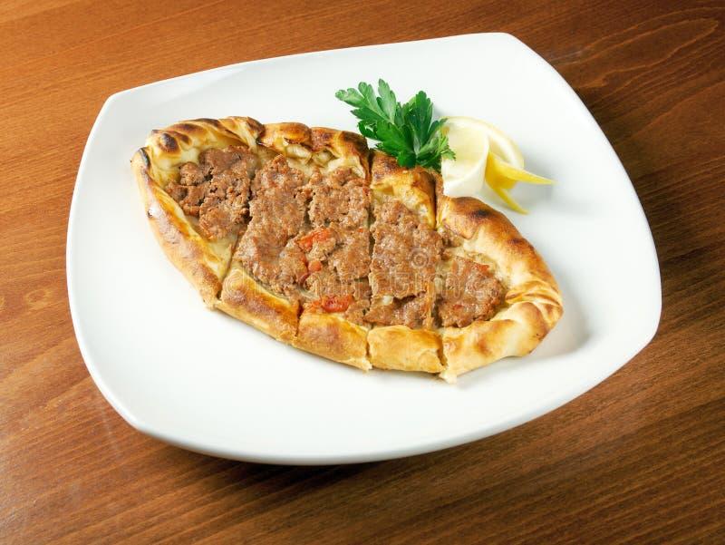 Pita面包用肉 图库摄影
