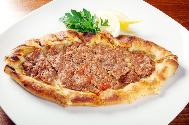 Pita面包用肉 免版税图库摄影