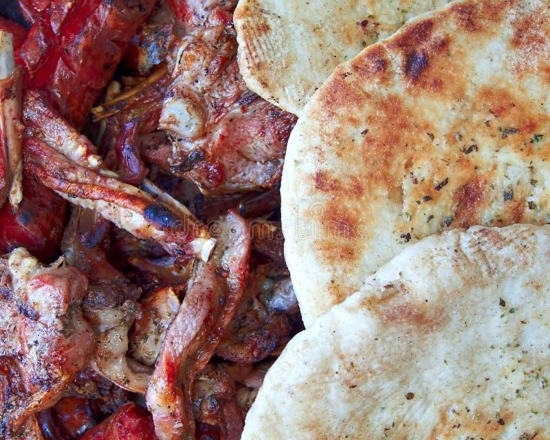 pita τροφίμων κινηματογραφήσ&epsi στοκ εικόνες