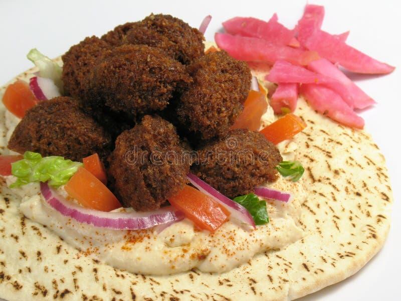 pita ψωμιού falafels θερμό στοκ εικόνα με δικαίωμα ελεύθερης χρήσης