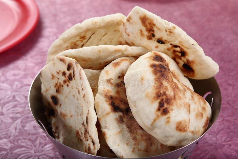 Pita Bread leavened tunnbröd, arabiskt bröd, libanesiskt bröd royaltyfria foton