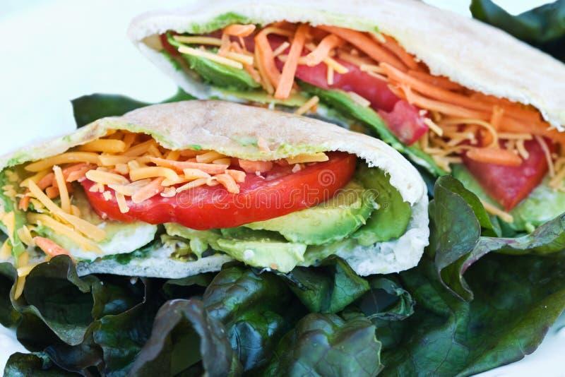 Pita bread sandwiches stock image