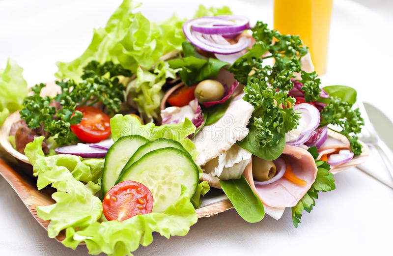 Pita bread and vegetables. stock photo