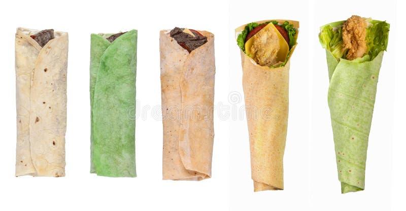 Pita chleb na białym tle zdjęcia stock