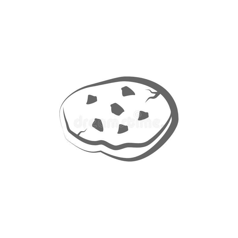 Pita chlebowa ręka rysująca ikona Element chlebowa ikona Cienka kreskowa ikona dla strona internetowa projekta i rozwoju, app roz ilustracja wektor