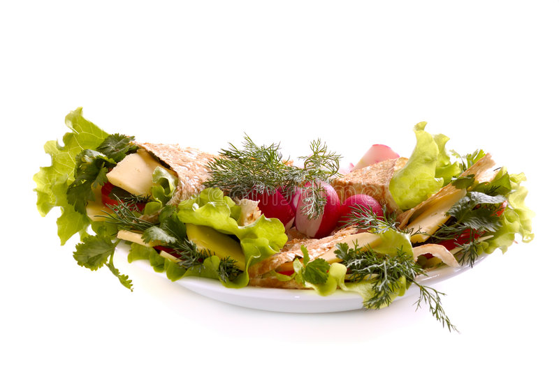 Download Pita with greenery stock image. Image of radish, refreshment - 6455523