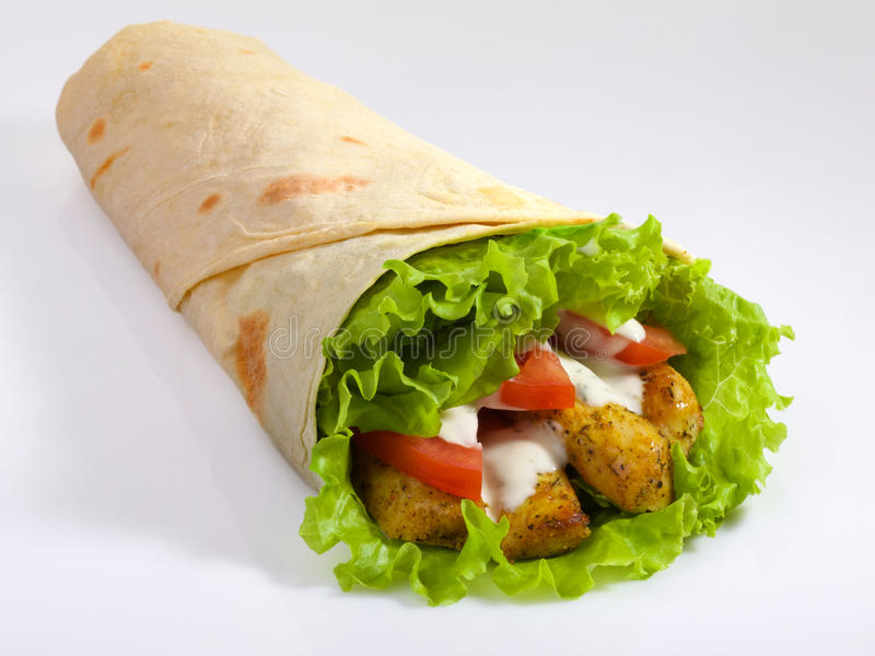 pita Kebab burrito στοκ εικόνες