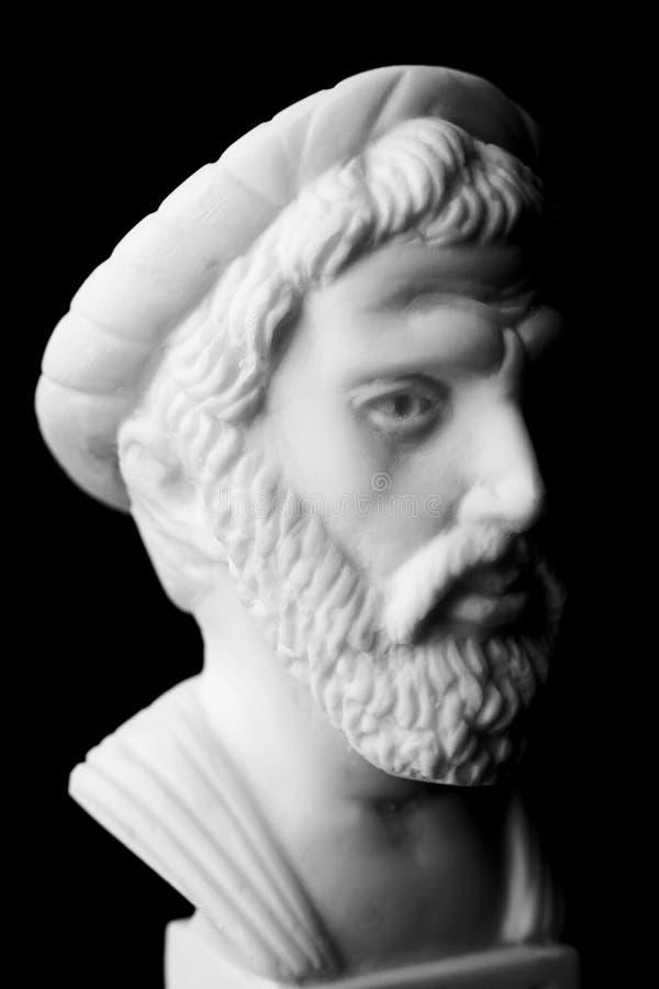 Pitagora di Samos, era un filosofo greco importante, mathema immagine stock
