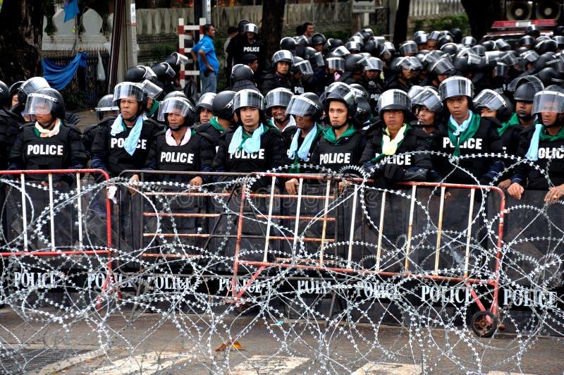 Pitak Siam antyrządowy wiec w Bangkok, Tajlandia obrazy stock