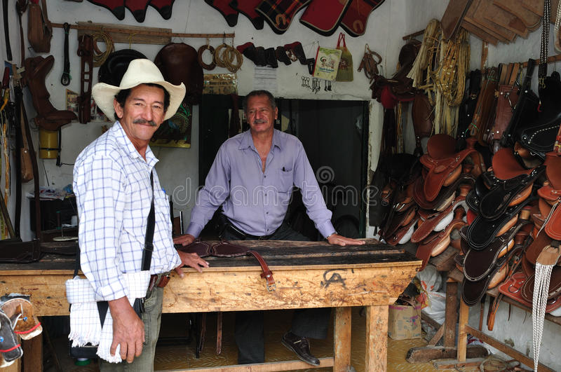 Pitalito - Colombia. Saddlery shop in PITALITO. Department of Huila.COLOMBIA stock photography