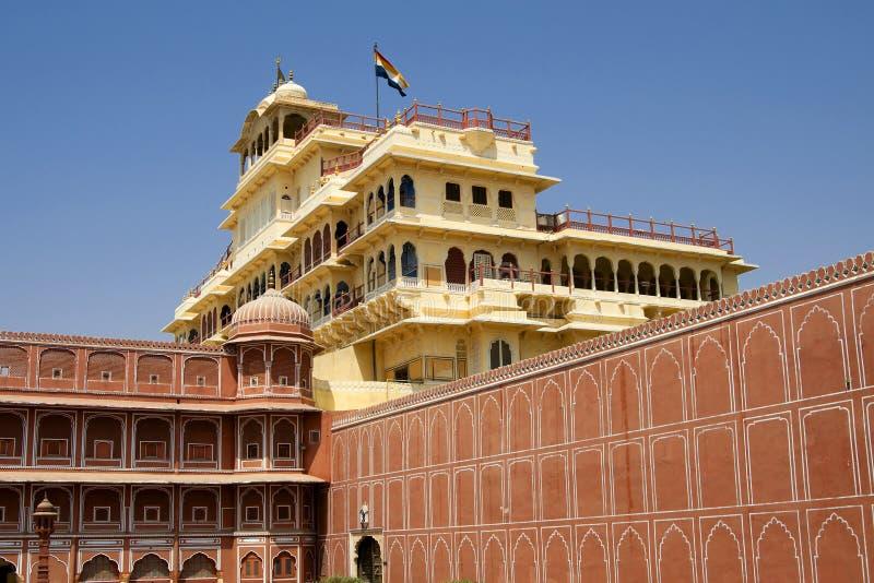 pitam för slott för chowkstadsindia jaipur niwas arkivbild