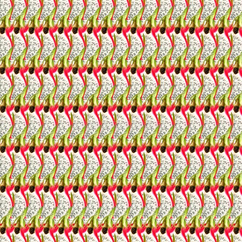 Pitaya果子切无缝的纹理 皇族释放例证