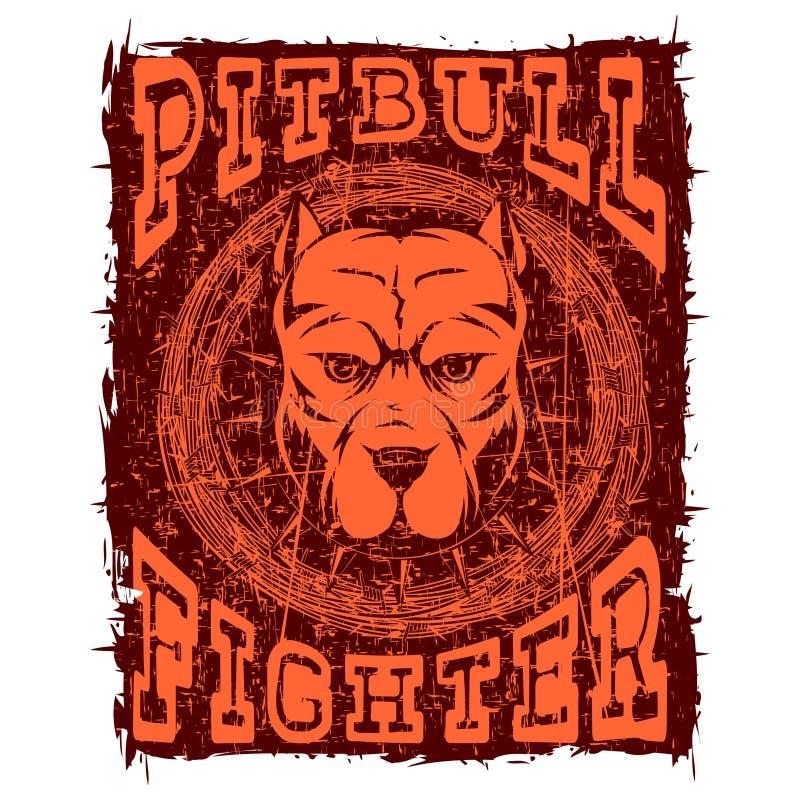 Pitbull 皇族释放例证