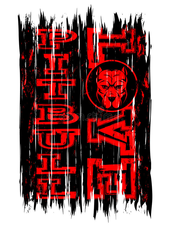 Pitbull royaltyfri illustrationer