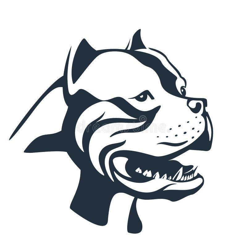 Free Pitbull Dog Sketch On White Stock Photography - 92183632