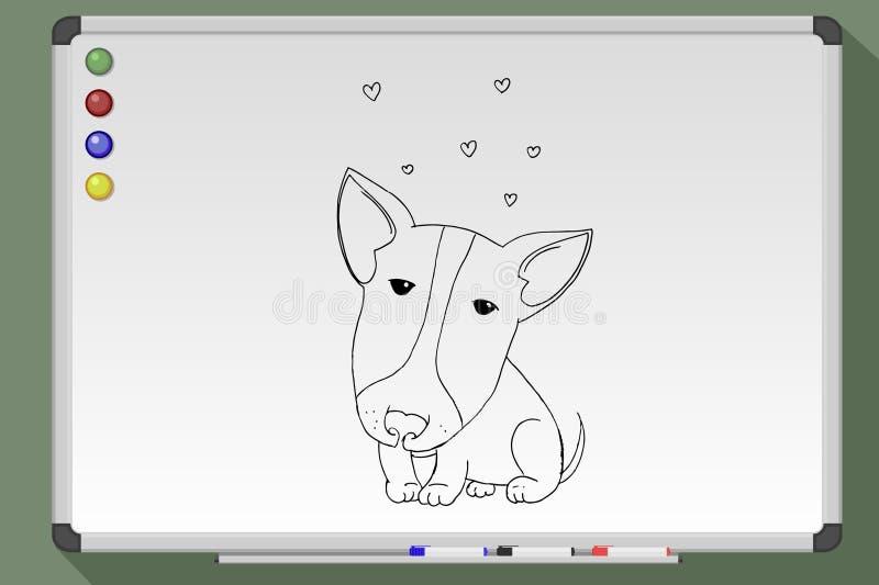 Pitbull mignon illustration de vecteur