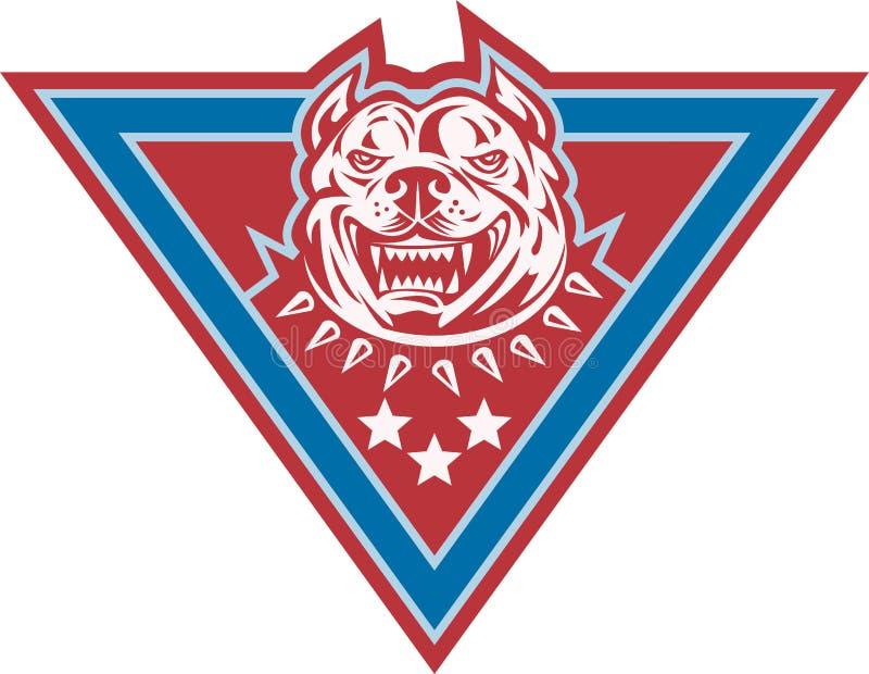 Download Pitbull Mongrel Dog Head Retro Royalty Free Stock Image - Image: 25415666