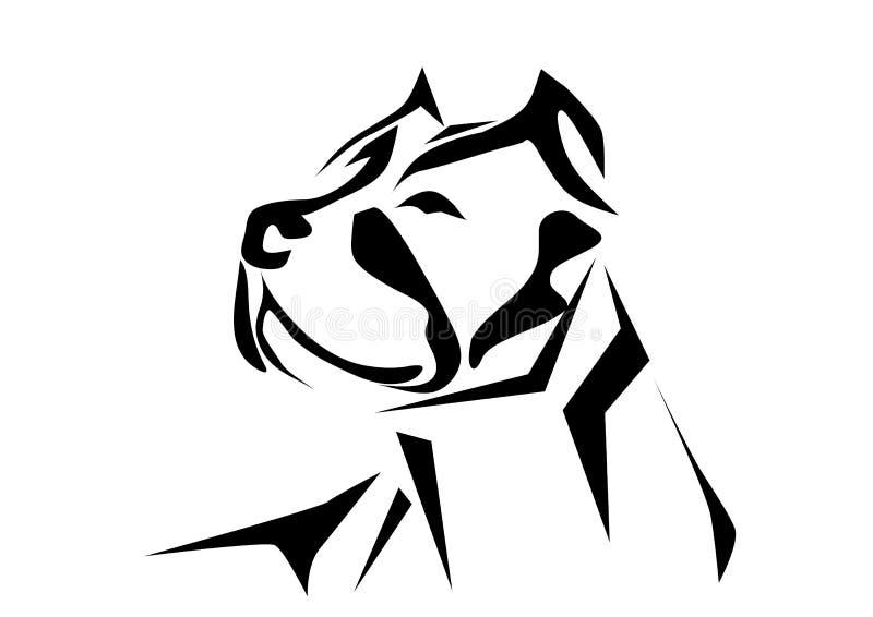 Pitbull stock illustration