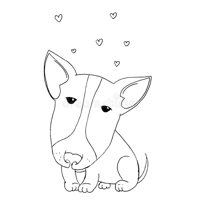 Pitbull sveglio del cucciolo illustrazione di stock