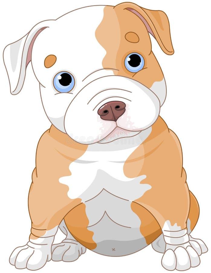 Pitbull szczeniak ilustracji