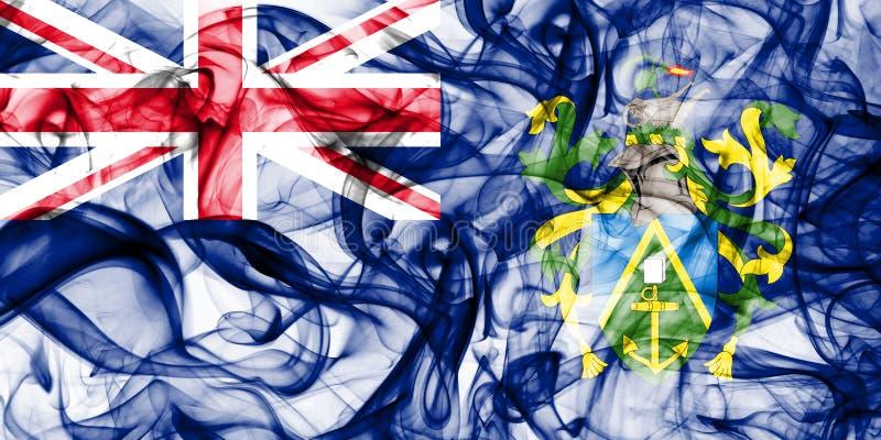 Pitcairn öar röker flaggan, beroende territoriet flagga för brittiska utländska territorier, det Britannien arkivbilder