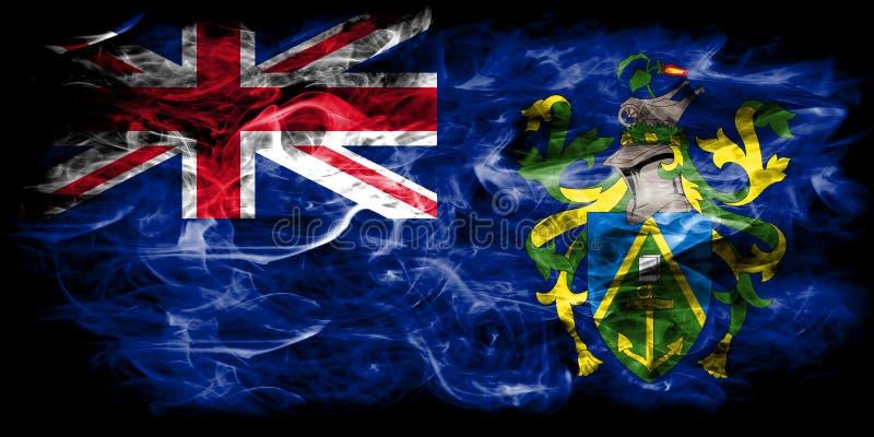 Pitcairn öar röker flaggan, beroende territoriet flagga för brittiska utländska territorier, det Britannien stock illustrationer