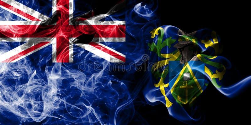 Pitcairn öar röker flaggan, beroende territoriet flagga för brittiska utländska territorier, det Britannien royaltyfri illustrationer