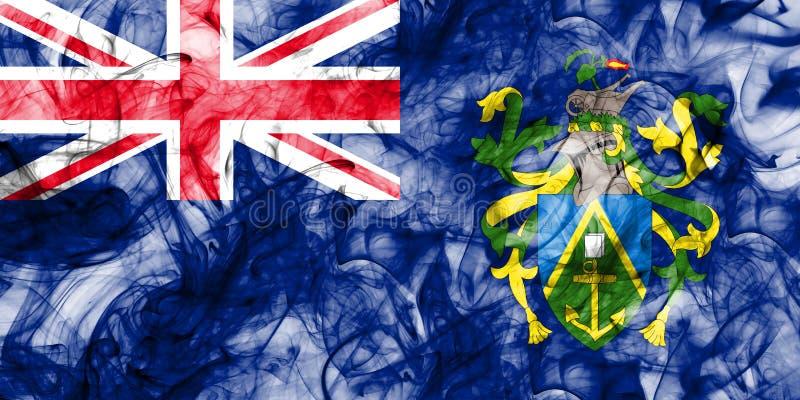 Pitcairn öar röker flaggan, brittiska utländska territorier, Brita stock illustrationer