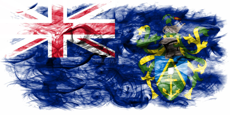 Pitcairn öar röker flaggan, brittiska utländska territorier, Brita royaltyfri illustrationer