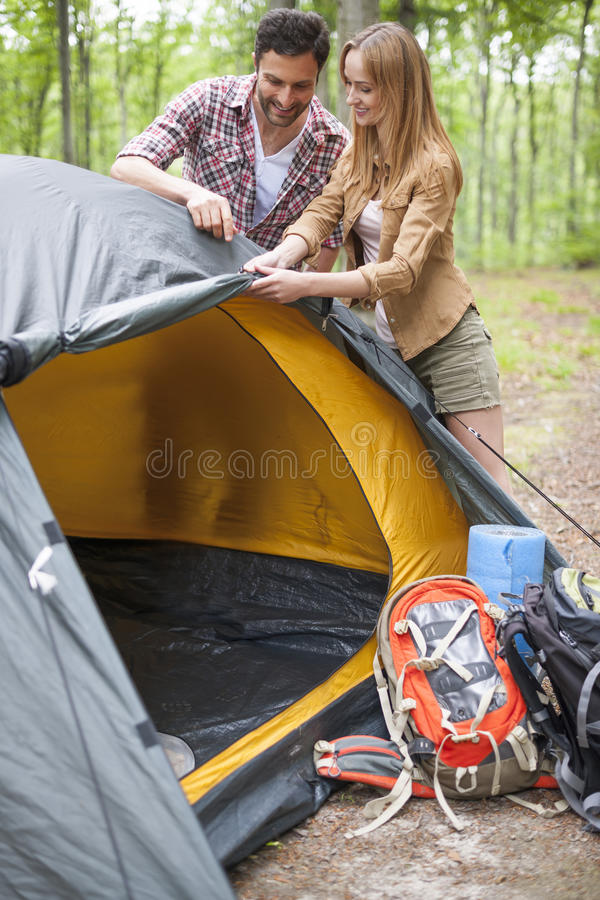 Download Pitch a tent stock image. Image of looking holding outdoors - 56402419  sc 1 st  Dreamstime.com & Pitch a tent stock image. Image of looking holding outdoors ...